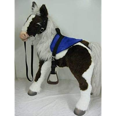 Party Ponies FurReal Butterscotch, S'Mores Interactive Horse Saddle Set - Blue - Horse not Included: Toys & Games
