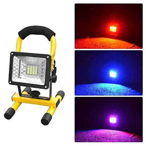 De alta potencia potencia alta de 30W LED de la lámpara de proyección reflectores luz roja y azul parpadeante luz de advertencia de inundación impermeable ligero con el sostenedor c35d96