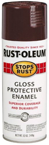 - Rust-Oleum 267112 Stops Rust Spray Paint, 12-Ounce, Kona Brown
