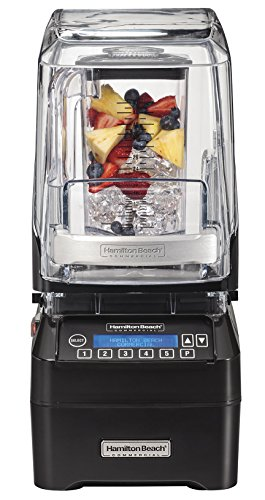 Hamilton Beach Commercial HBH750  The Eclipse Blender, 3 hp, Quietblend Technology, 48 oz./1.4 L Polycarbonate Container, 18.5