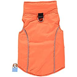 TAONMEISU Reversible Pet Jacket Dog Vest Sport Vest Winter Dog Clothes Jacket for Cold Weather Orange S