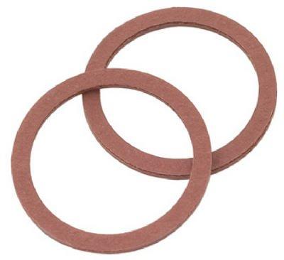 Brass Craft SC0200 2 Pack, 1.12 x 0.90 x 0.06 in. Red Pressed Fiber Cap Thread Gasket - Pack of 5 by BrassCraft