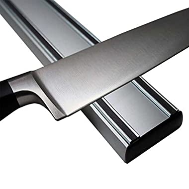 T&Hproducts -Magnetic Knife Holder - Storage Strip - Kitchen Knives Bar - Aluminum Rack-16 Inches - Never Rust