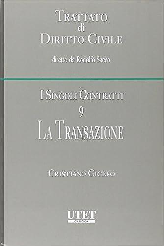 Book I singoli contratti vol. 9 - La transazione
