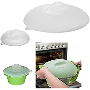 Zak Set of 2 Silicone Lids Dome Microwave Cover for Food Splatter Guard Large Small Plates  sc 1 st  Amazon.com & Amazon.com: Zak Set of 2 Silicone Lids Dome Microwave Cover for Food ...