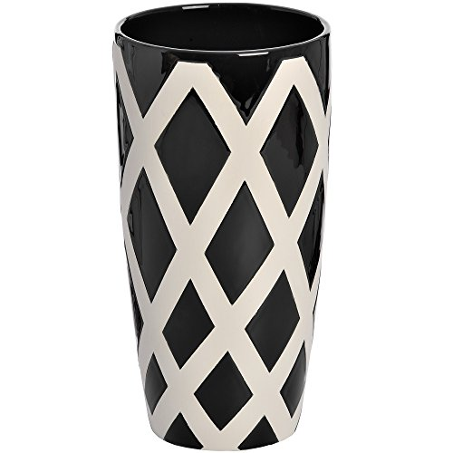 Lattice Vase (Hill Interiors Contemporary Lattice Vase (Medium) (Black/White))