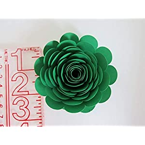 """Mardi Gras Theme Party Decorations, Set of 6 Green, Purple and Yellow 3"""" Roses, Handmade Paper Flowers, Always In Blossom Popular Floral Decor 4"""