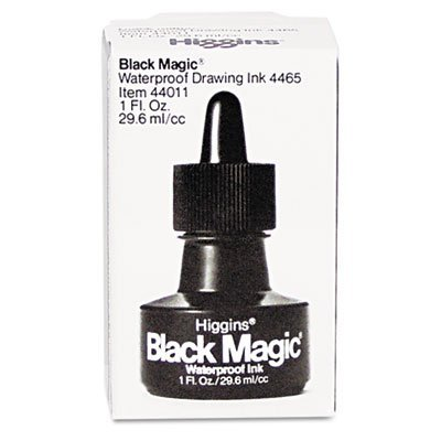 SAN44011 - Sanford Higgins Black Magic Waterproof Drawing Ink by Higgins