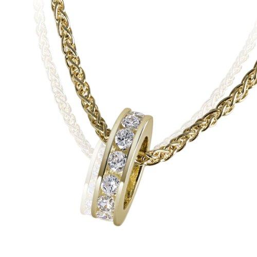 Goldmaid - Ta C564GG - Collier Femme - Or Jaune 9 Cts 375/1000 - Oxyde de Zirconium