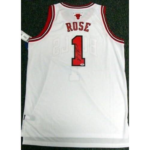 4e512eef654 Derrick Rose Signed Jersey - White Adidas Swingman Size Xl - PSA DNA  Certified -