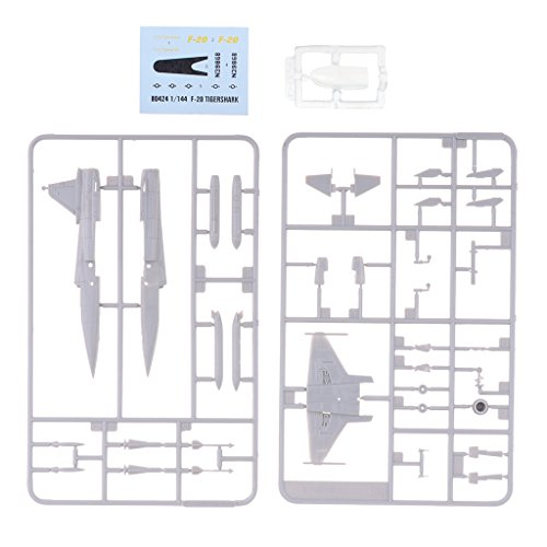 Baoblaze 1/144 F-20 Tigershark Fighter Aircraft Handmade Handicraft Military Plane Model