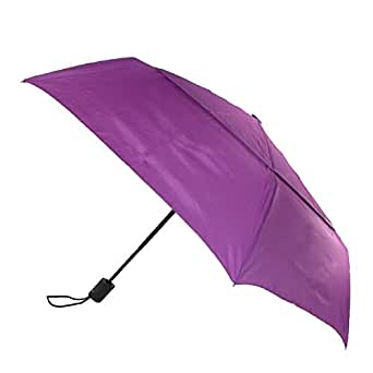 ShedRain Mens Flatwear Auto Open and Close Vented Wind Resistant Teflon Coated C, Hyacinth Purple