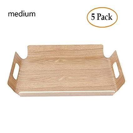 Bandeja de pan de madera Bandeja de servicio de madera Bandeja de selección de autoservicio Rectangular