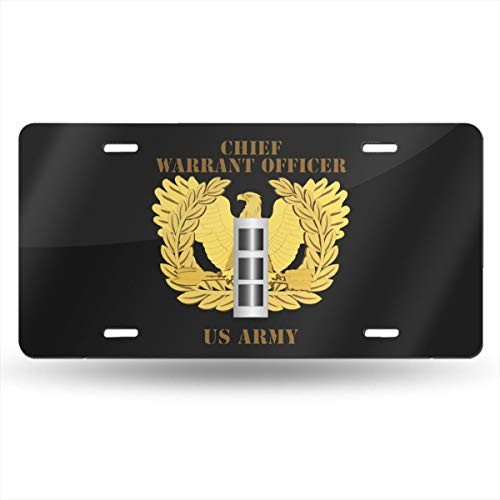 NCJEI NONGE Army Emblem Warrant Officer CW3 License Plate Frames for Car Decoration 6 Inch X 12 ()