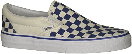 On True Primary Checker Vans Unisex Skate Slip Checkerboard Shoe Classic White Blue OIwHz