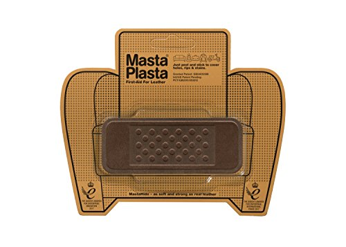 MastaPlasta Self-Adhesive Patch for Leather and Vinyl Repair, Bandage, Suede Brown - 4 x 1.5 Inch