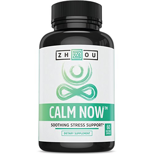CALM NOW Anxiety Relief and Stress Support Supplement - Herbal Blend Keeps Busy Minds Relaxed, Focused & Positive - Promotes Serotonin Increase - Ashwagandha, Rhodiola Rosea, B Vitamins, Bacopa & - Herbal Supplements Other