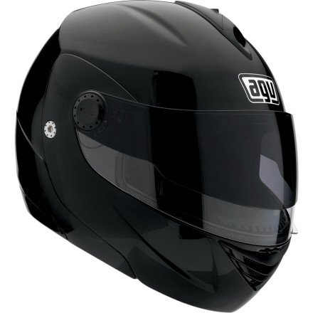 AGV Miglia 2 Modular Motorcycle Helmet (Metallic Black, X-Large)