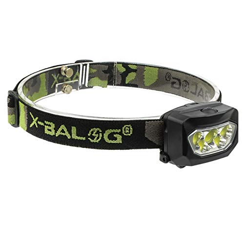 X-BALOG Best LED Headlamp Flashlight,2 Lighting Modes,Adjustable Strap,3 x AAA Batteries Operated,Waterproof Headlamp,for Running, Camping, Reading, Kids, DIY & More,3 X AAA Batteries Included