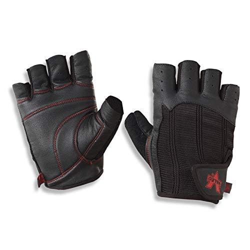(Valeo Padded Ocelot Lifting Gloves, Gym Gloves, Workout Gloves, Exercise Gloves for Powerlifting, Cross Training, Rowing for Men & Women )