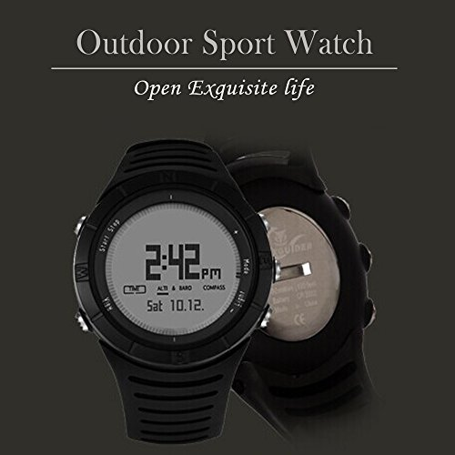 TOP YAO Wrist-top Computer Watch with Altimeter, Barometer, Compass, and Depth Measurement for Hiking Fishing Climbing Camping (Black)