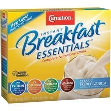 Carnation Breakfast Essentials, 10 Packets Net Wt. 12.6 Oz., Classic Vanilla, (Pack of 2 Boxes)