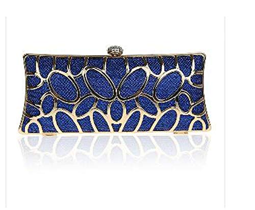 - Fashion Hollow Out Style Women Evening Bag Shell Design Day Clutch With Chain Shoulder Purse,Ym1002Blue