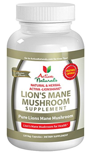 Activa Naturals Lions Mane Mushroom Supplement - 120 Veg. Capsules with Lion Mushrooms Extract Powder - 41guPUV1lXL - Activa Naturals Lions Mane Mushroom Supplement – 120 Veg. Capsules with Lion Mushrooms Extract Powder