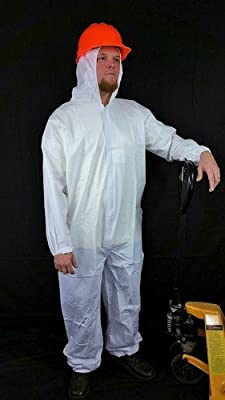 Sunrise Case of 25 Suntech Microporous Disposable Coveralls with Hood, Elastic Wrists and Ankles
