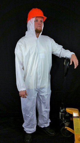Sunrise Case of 25 Suntech Microporous Disposable Coveralls with Hood, Elastic Wrists and Ankles - 6X-Large