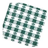Winco TBCO-90G Checkered Table Cloth, 52-Inch x 90-Inch, Green