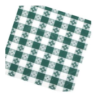 Winco TBCO-90G Checkered Table Cloth, 52-Inch x 90-Inch, Green by Winco