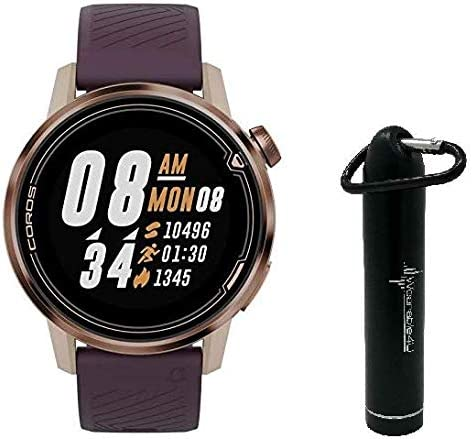 Coros APEX Premium Multisport Watch with Wearable4U Compact Power Bank Bundle (42mm, Gold)