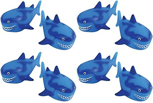 U.S. Toy Shark Water Squirter Pool Beach Bath Toys - Pack of 12]()