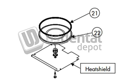 NEY Centurion-Serie - Door O-Rings 8.725 - # 9357071 [ Q-50 Q-100 Q-2 102832 Us Dental Depot