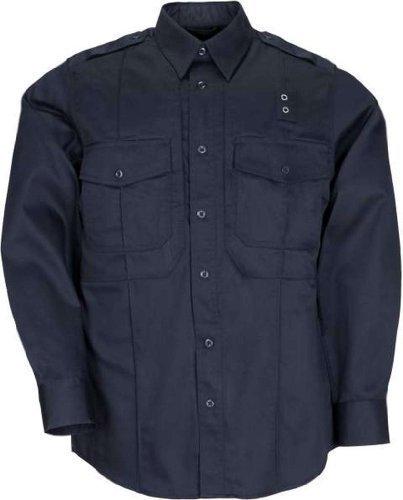 5.11 Men's Taclite Class B PDU Long Sleeve Shirt, Midnight Navy, Medium-Regular