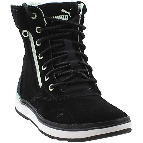 PUMA Womens Motorsport Mid Casual Sneakers, Black, 9