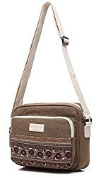 Dachee New Bohemian Canvas Shoulder Messenger Bag for Ipad Air 2/ipad Air/ipad 4/ipad 3/ipad Mini3 Mini2/kindle Fire/kindle Touch/kindle Bag Fits 6 to 10 Inch Tablets