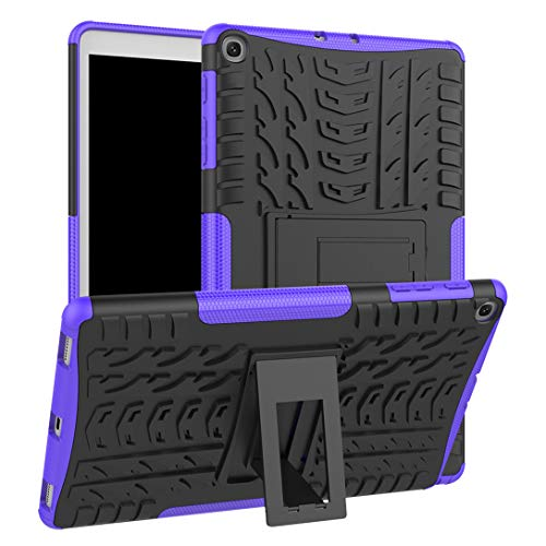 cceca8ed3c2 Leeboss Galaxy Tab A 10.1 2019 Case, Rugged Armor Case with Resilient Shock  Absorption and