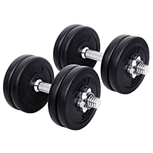 Dumbbell 15kg Adjustable Weight Plates for Home Gym Fitness Exercise Body Workout