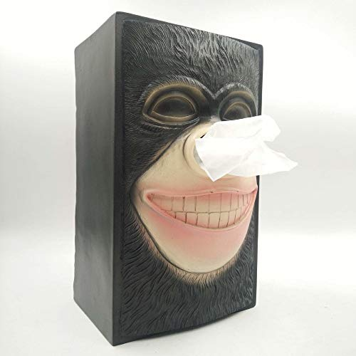 STAY TRULY Personalizado Tejido Caja Pascua Isla Piedra Estatua Moda hogar Resina decoración,Orangutan