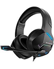 BINNUNE Gaming Headphones with Microphone for PC PS4 PS5 Playstation Casque Wired Gamer Headset with Mic for Xbox One Series X