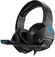 BINNUNE Gaming Headset with Microphone for PS4 PS5 Xbox One PC Playstation 4 Xbox 1 Game Audifonos Gamer Headp