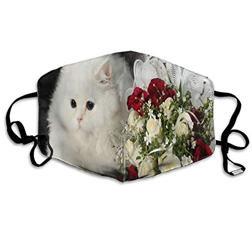 Face Mask Cat, Flower, Roses, Personalized Cycling Half Face Earloop Nose Mask for Man