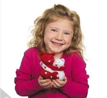 Plush Hugging Valentine Bean Bag Bear(One Set)/VALENTINE'S for sale  Delivered anywhere in USA