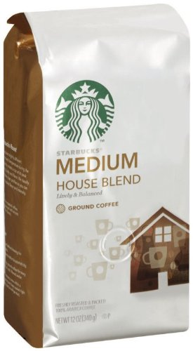 Starbucks House Blend Ground Coffee 12 Ounce Pack Of