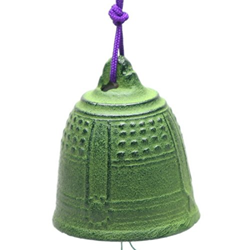 Japanese Bell Wind (Kotobuki Iron Japanese Wind Chime, Green Temple Bell)