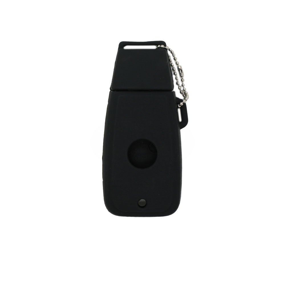 SEGADEN Silicone Cover Protector Case Skin Jacket fit for FIAT Smart Remote Key Fob CV4754 Black