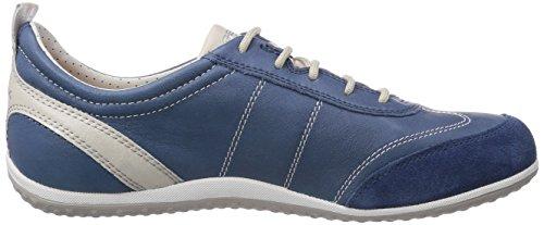 Geox D Vega A, Zapatillas para Mujer Blau (DENIMC4008)