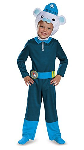 Disguise Captain Barnacles Classic Octonauts Silvergate Media Costume, Small/2T by (Octonauts Costumes)